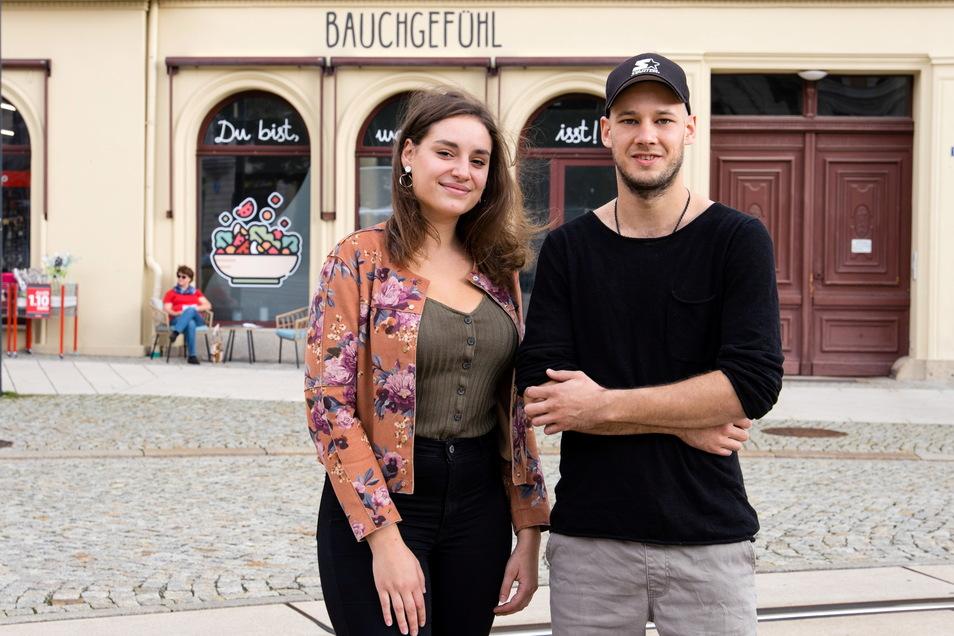Virginia Neumann und Peter Mutscher bieten bald am Görlitzer Postplatz gesundes Essen an.