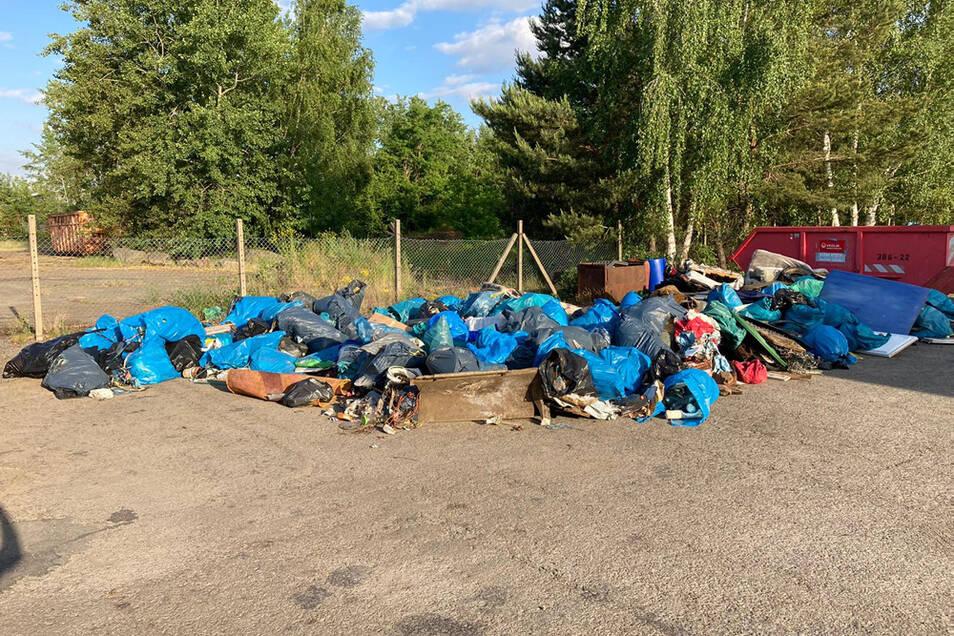 Das Resultat des Groß-Putzes war beachtlich: 30 Kubikmeter Müll.