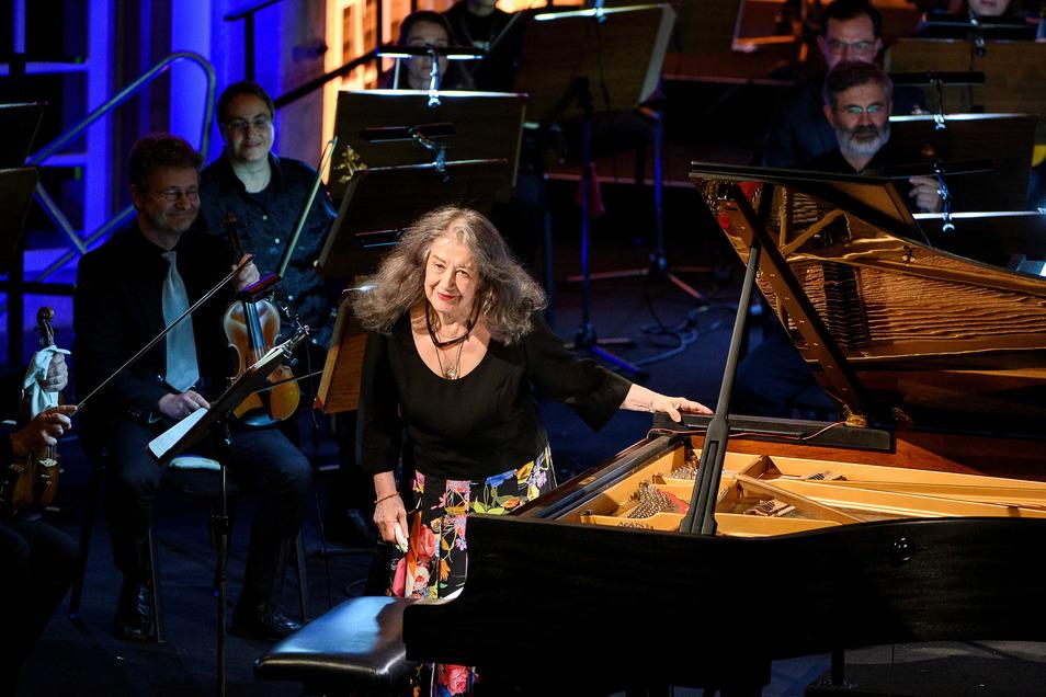Die weltberühmte Pianistin Martha Argerich, die 2020 in der Görlitzer Synagoge, im Bankettsaal der Stadthalle und der Dorfkirche Cunewalde auftrat, kommt auch in diesem Jahr wieder zum Lausitz-Festival.