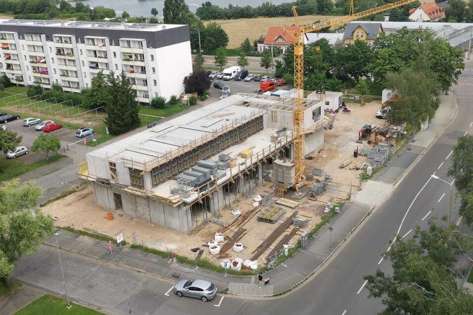 An der Zamenhofstraße in Leuben entsteht eine neue Rettungswache für den Dresdner Osten.