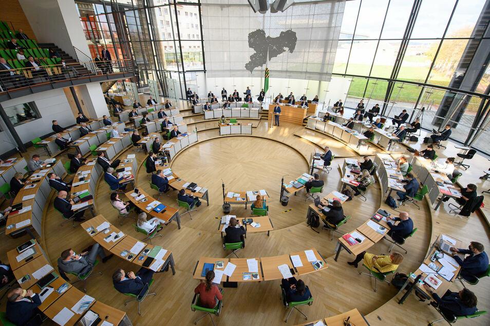 Der Landtag von Sachsen. Gegen die Kürzung ihrer Kandidatenliste für die Wahl 2019 wollte die AfD ursprünglich klagen.