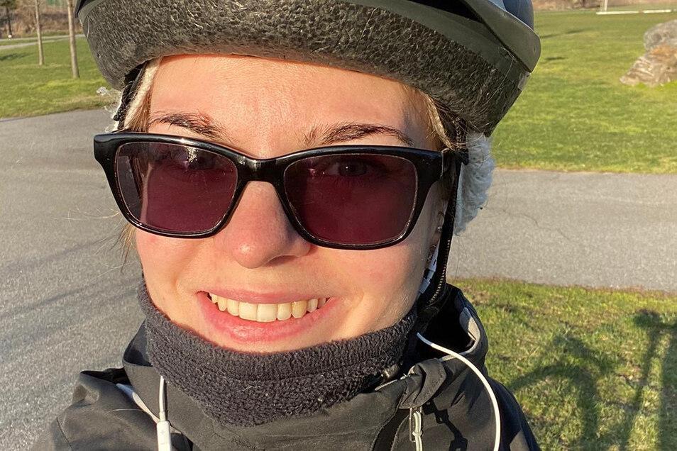 Die Oppacherin Sindy Kalauch vertreibt sich in New York die Zeit unter anderem mit Rad fahren - eine der wenigen Aktivitäten, die noch möglich sind.