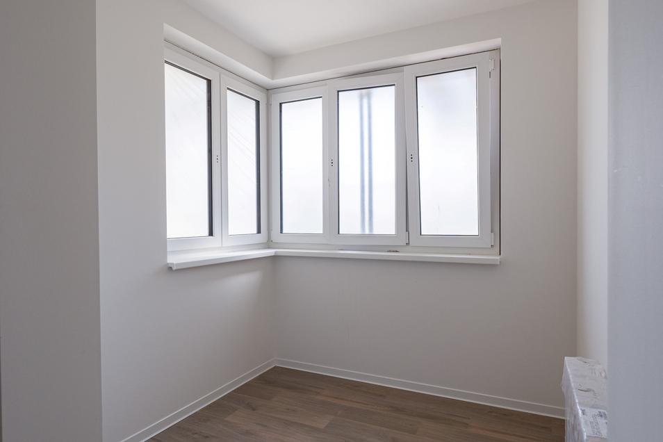 Nicht alle haben diese Eckfenster wie in der Musterwohnung.