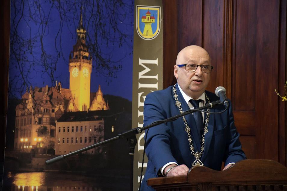 Bürgermeister Steffen Ernst (FDP) würdigte beim Empfang bürgerliches Engagement.