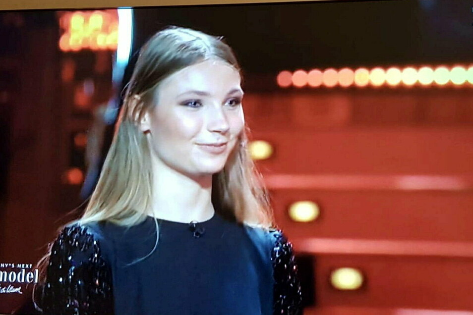 "Romy Wolf in der TV-Show ""Germany's Next Topmodel"" am Donnerstagabend."
