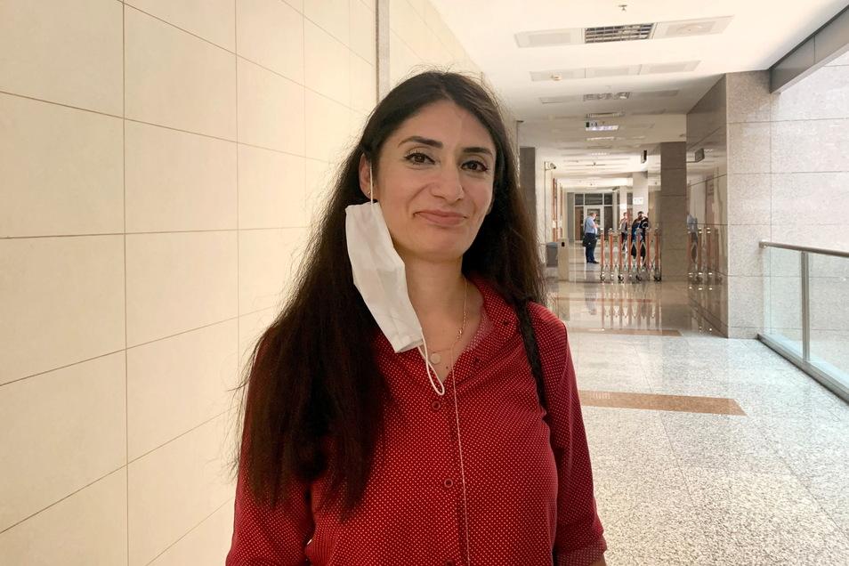 Die in der Türkei festgehaltene Kölnerin Gönül Örs im Gericht Caglayan.
