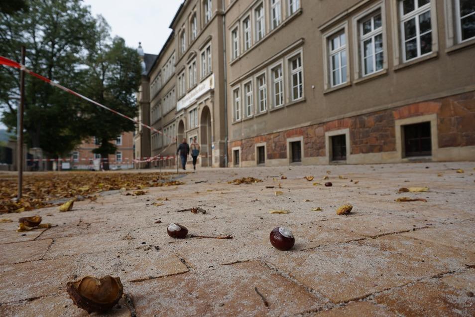 Der Hof der Triebischtalschule erstrahlt nach den Ferien in neuem Glanz.