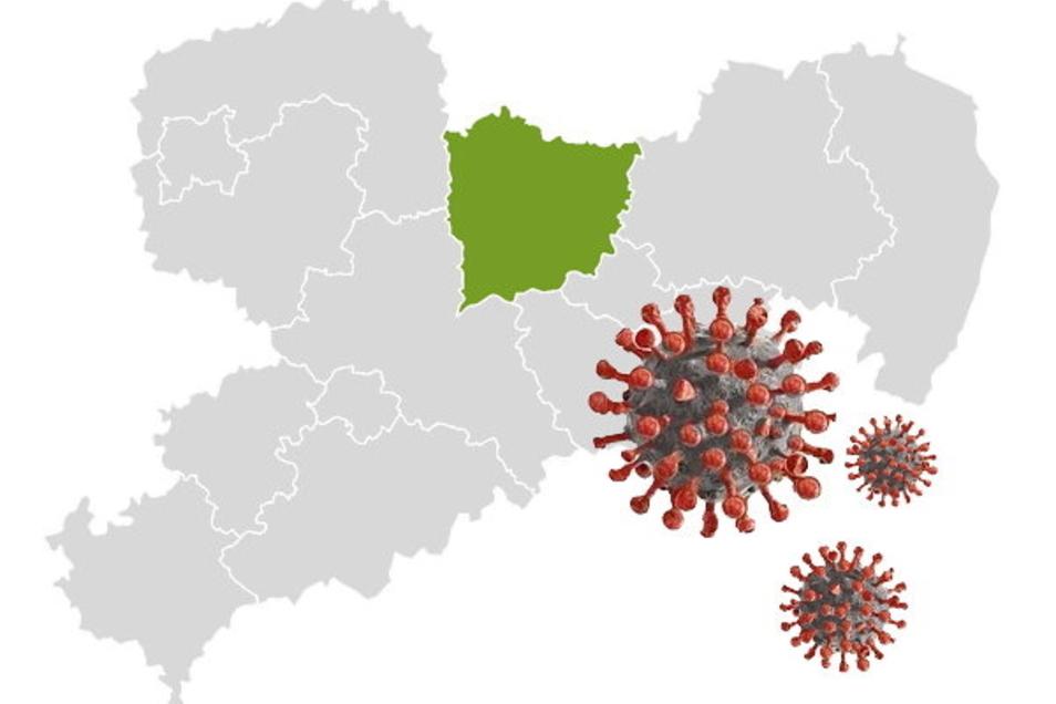 Illustration zur Corona-Lage im Landkreis Meißen.