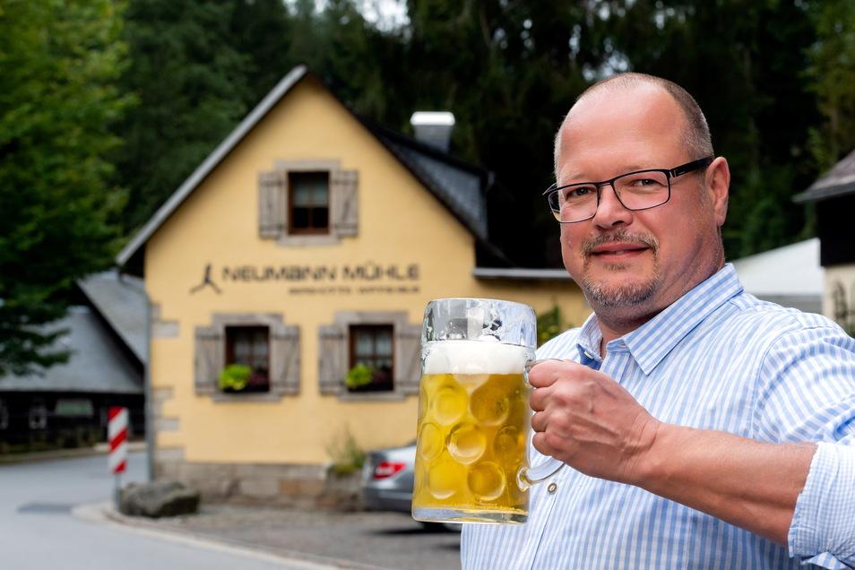 """""""Das Beste, was mir passieren konnte."""" Der Malerweg hat dem Neumannmühlenwirt Markus Galle deutlich mehr Gäste und Umsatz eingebracht."""