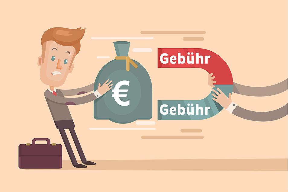 Die jährlichen Gebühren für Girokonto und ausgewählte Leistungen bei sächsischen Sparkassen oder Genossenschaftsbanken variieren teilweise immens.