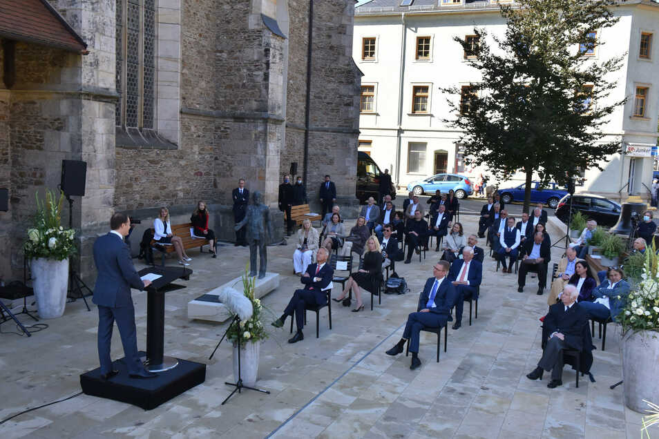 Viel EU-Geld floss in die Neugestaltung des Kirchenvorplatzes in Glashütte. Im Herbst 2020 konnte der Umbau abgeschlossen werden.