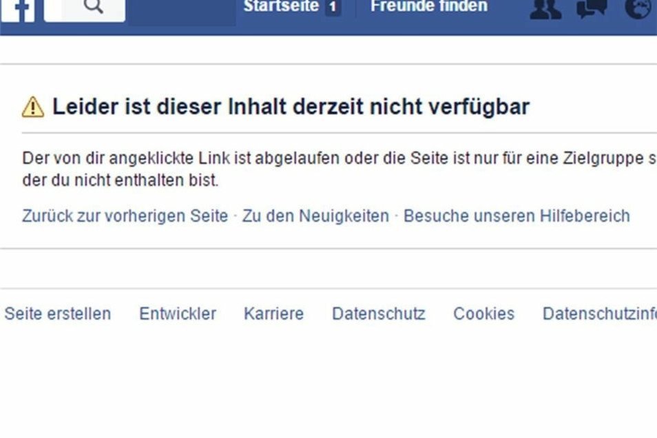 Zuvor sah die Pegida-Seite bei Facebook so aus.