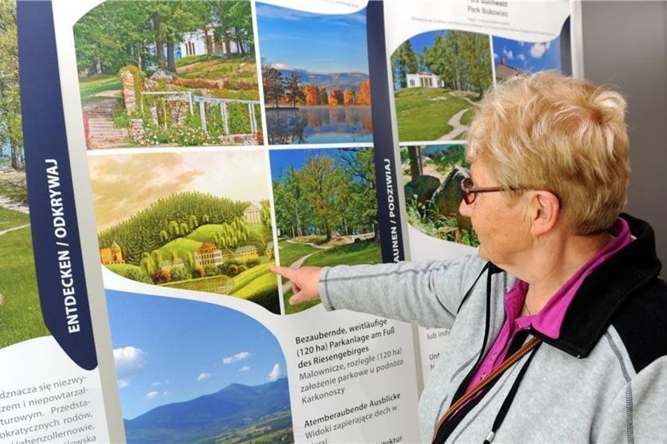 In den Innenräumen der Parkverwaltung stellten sich der Park Buchwald im Hirschberger Tal und der Stadtpark von Priebus (beide Polen) den interessierten Gästen vor.