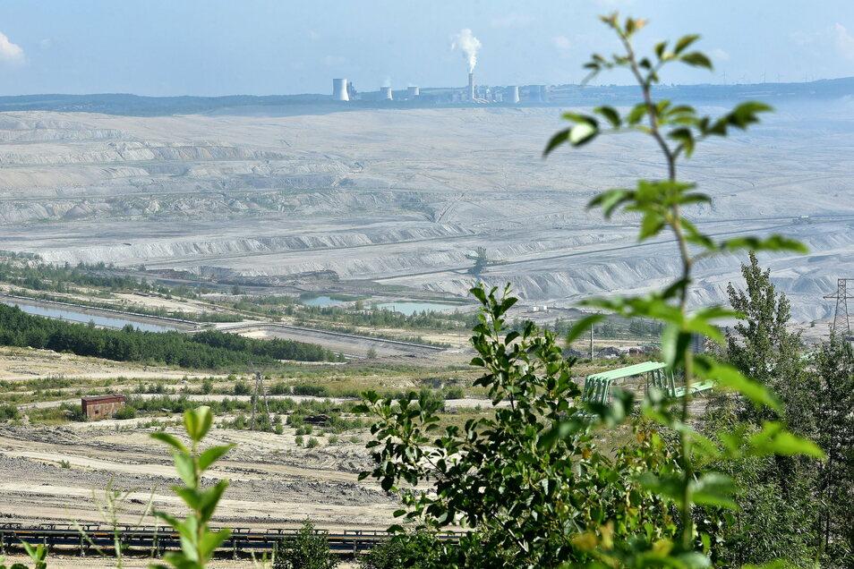 Blick auf das Abbaugebiet von Turow.