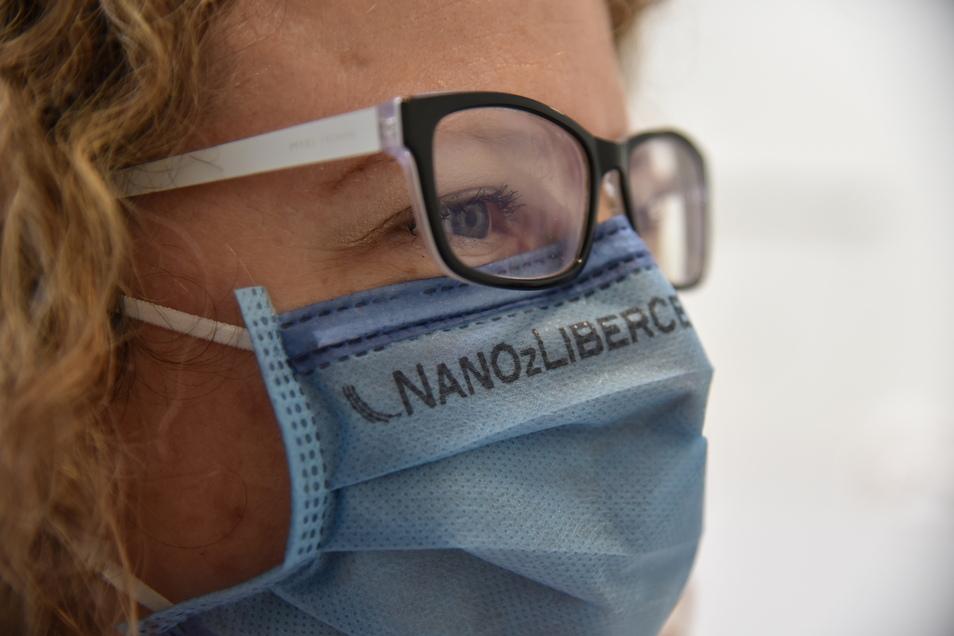 So sehen die in der Region Liberec gefertigten Nanoschutz-Masken aus.