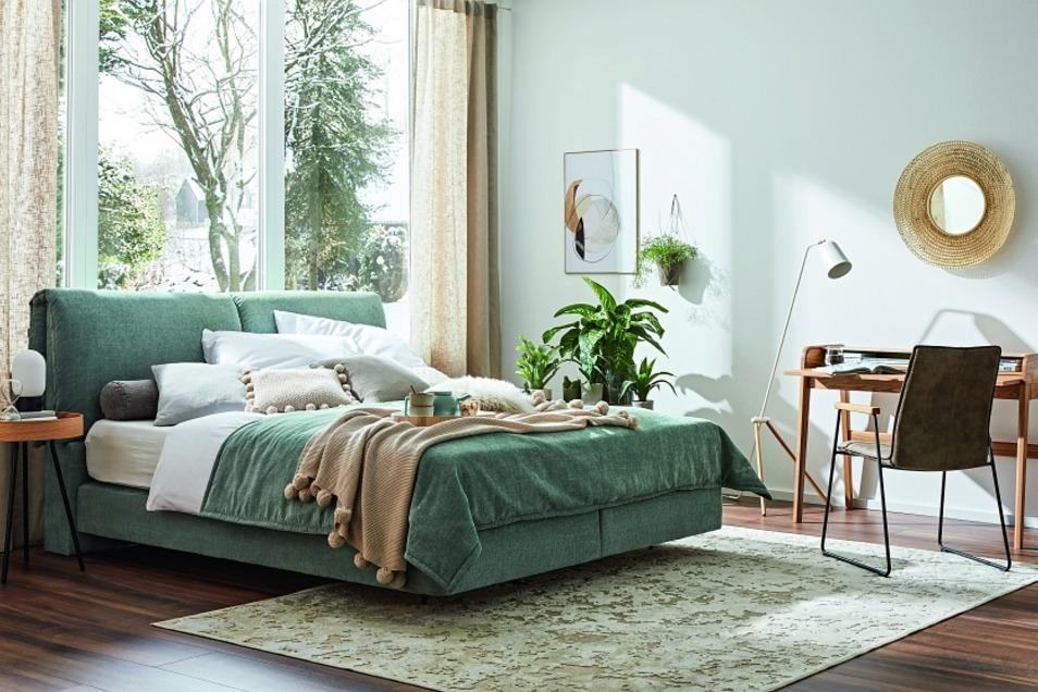 Grüne Farbtöne holen die Natur ins Haus.