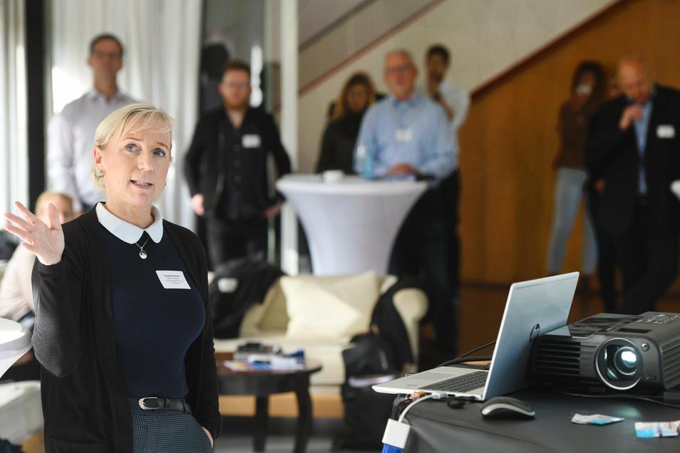 Susanne Ramm aus Prenzlau hob die Funktion des City Managers gerade in Corona-Zeiten hervor.