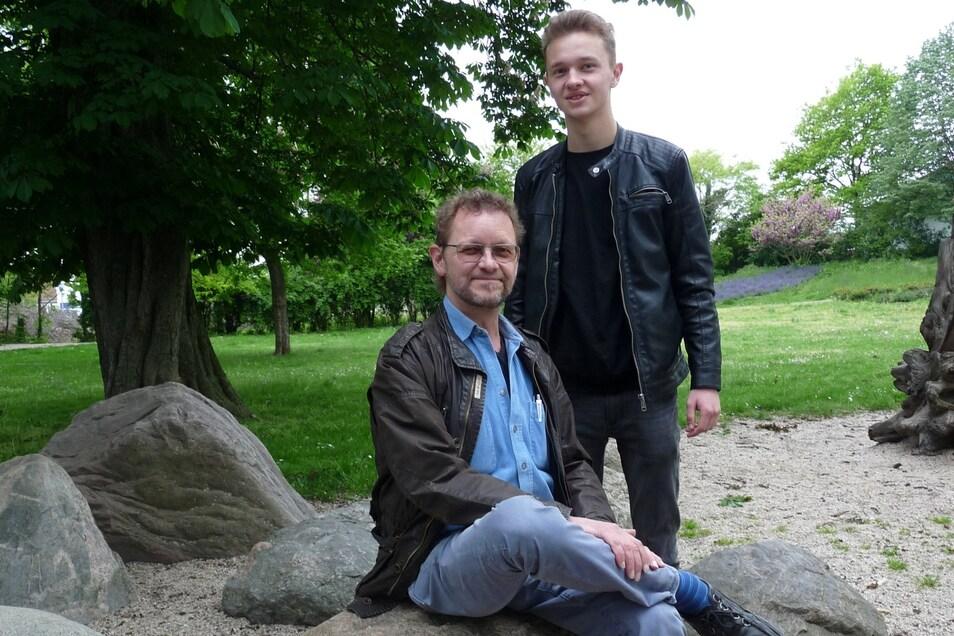 Thomas Werner-Neubauer und sein Sohn Fabian stehen auf der Kandidatenliste der Grünen.
