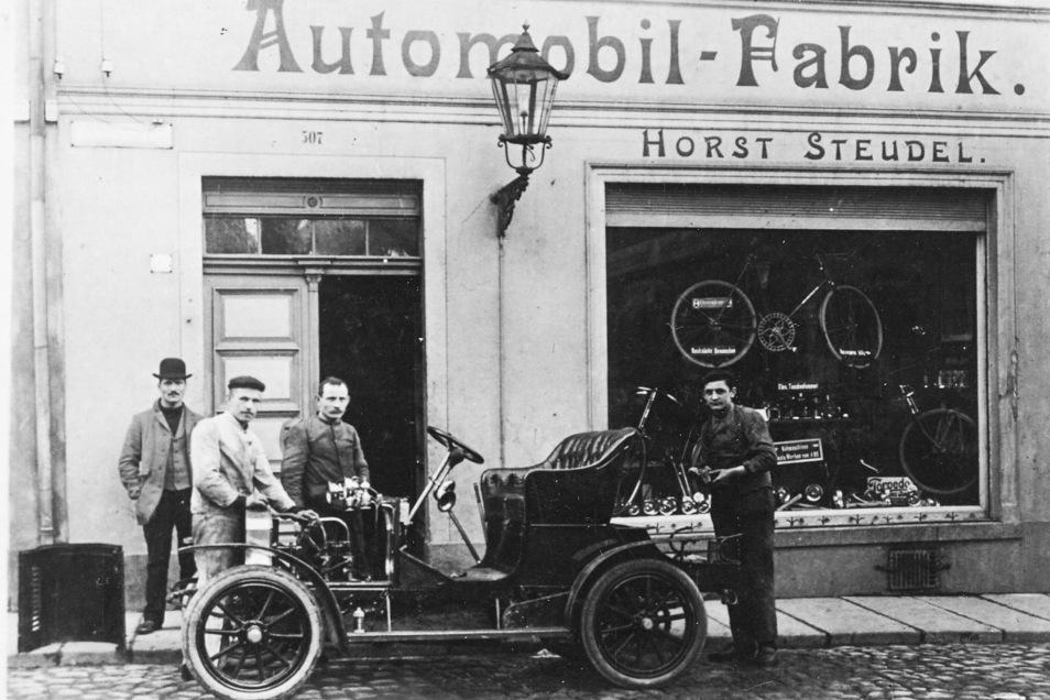 Direkt neben der Ex-Baderei hat Horst Steudel seine Fabrik betrieben.