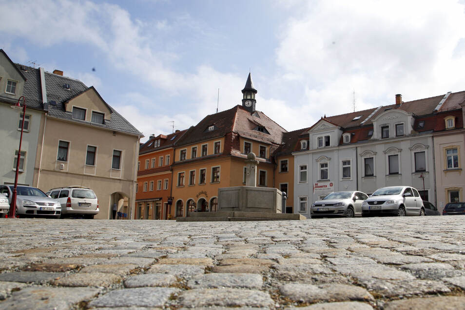 Der Obermarkt in Neusalza-Spremberg.