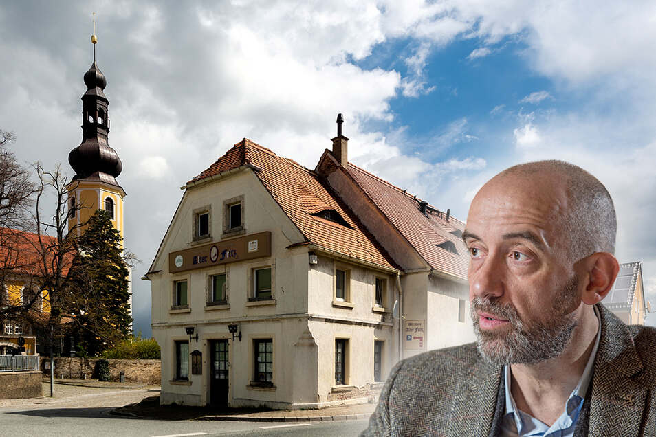 """Seit seiner Schließung 2011 sieht es trübe für den historischen Gasthof """"Alter Fritz"""" in Hochkirch aus. Der derzeitige Eigentümer, Bautzens Oberbürgermeister Alexander Ahrens, will es jetzt verkaufen."""