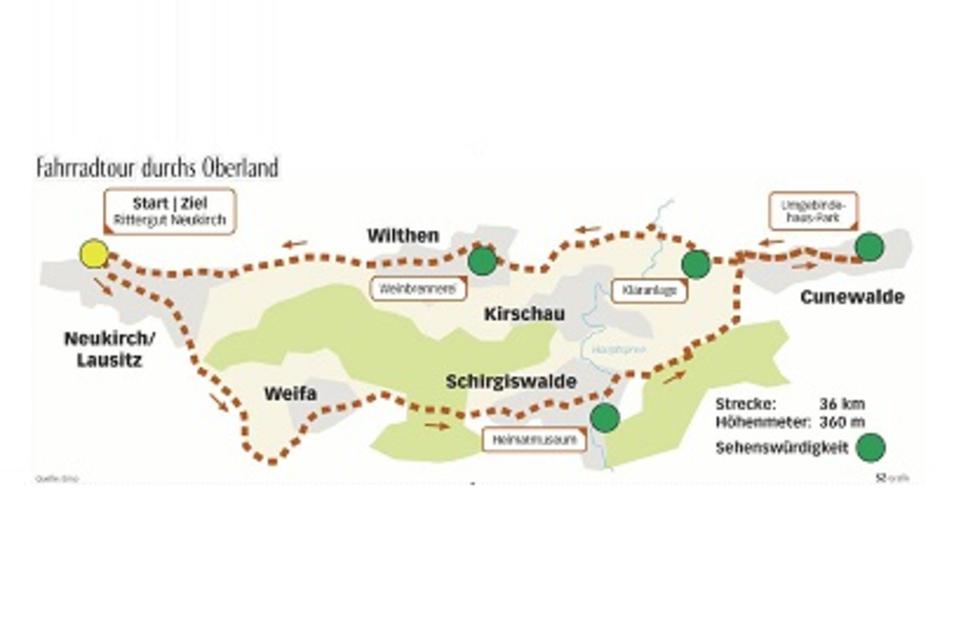 Das ist die Streckenführung der Tour. Quelle: Enso