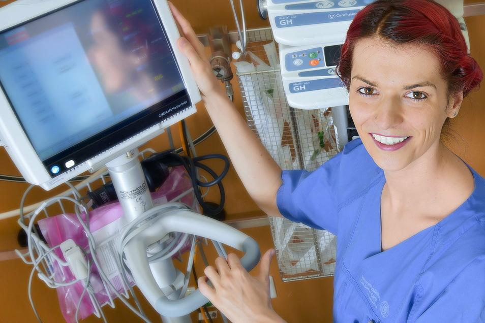 Gern würde Sarah ihre Social-Media-Arbeit für das Uniklinikum ausbauen. Ganz aus der Pflege will sie aber nicht aussteigen.
