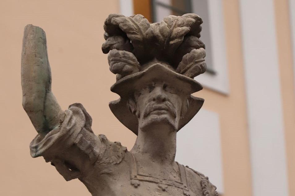 Görlitzer Heroldbrunnen ohne Lanze.