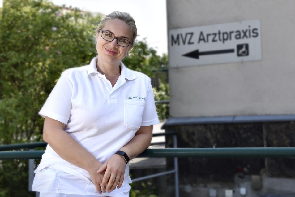 Dr. Katharina Burghardt behandelt ihre Patienten im Medizinischen Versorgungszentrum MVZ gleich neben der Asklepios-Klinik in Radeberg.