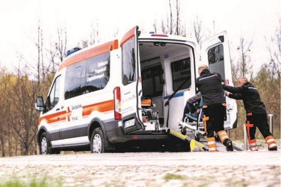 Der Fahrdienst des Deutschen Roten Kreuzes im Einsatz.