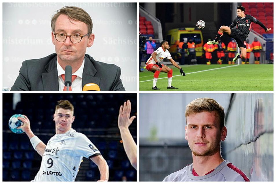 """Der Sportmontag aus sächsischer Sicht: Innenminister Wöller spricht mit """"Amateursport Sachsen"""", RB muss zahlen, ein Schwede aus Kiel geht nach Leipzig und ein Dynamo-Stürmer gibt Entwarnung."""