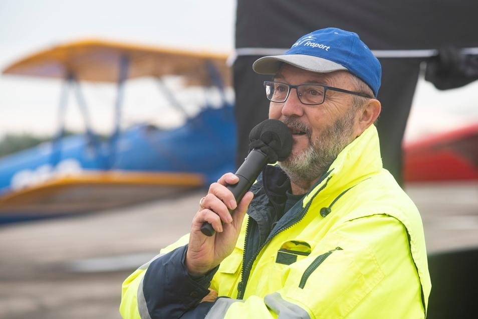 Braucht keine Vorlage: Peter Misch ist professioneller Moderator für Flugplatzveranstaltungen.