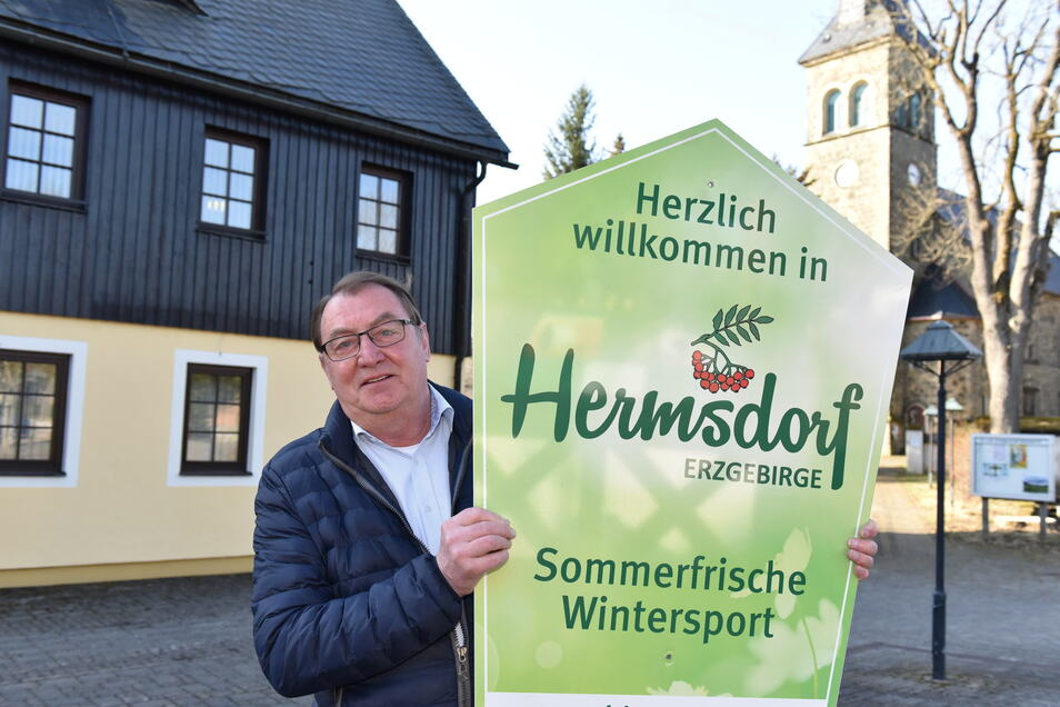 Andreas Liebscher ist seit sieben Jahren Bürgermeister von Hermsdorf/Erzgebirge und will das Amt weiter ausüben.