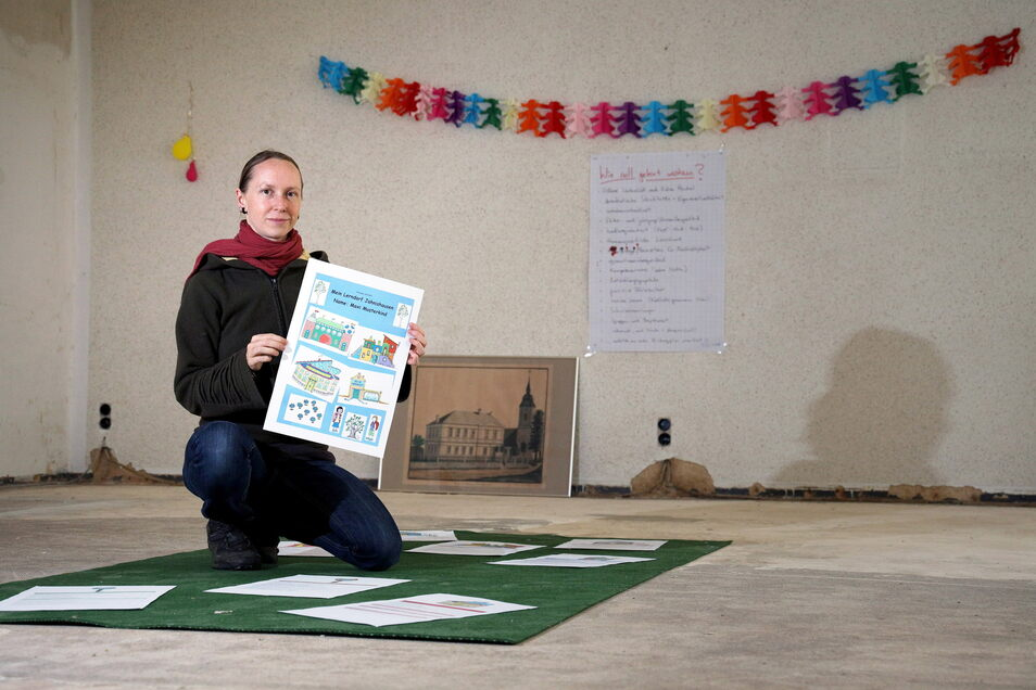 Nadine Hauswald gehört zu den Initiatoren der geplanten Dorfschule in Jahnishausen. Sie ist Mutter von zwei Kindern - von denen das große 2022 dort eingeschult werden könnte.