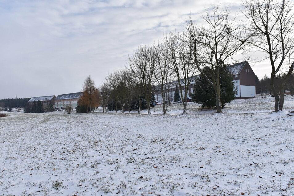 Altenbergs geplanter Neubaustandort links und rechts der Walter-Richter-Straße.