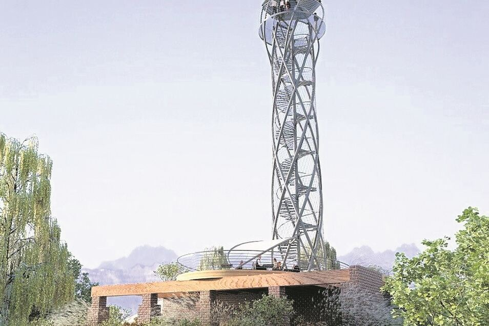 Ein Turm-Vorhaben auf dem Spitzberg, dem zweiten Hausberg der Stadt, wartet seit 2016 auf den Baubeginn.