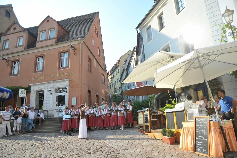 Veranstaltung an der Konditorei Café Zieger