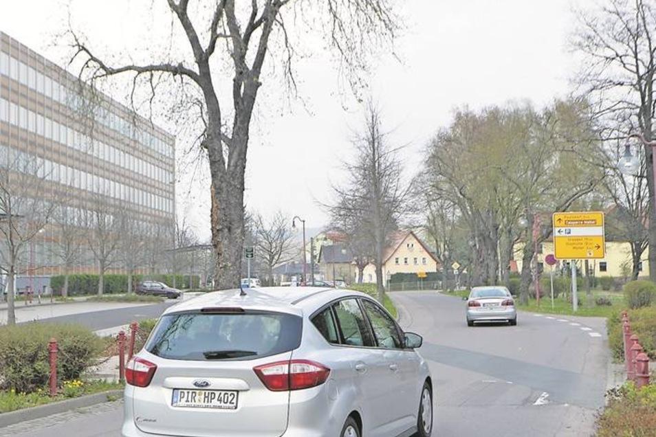 Erst verschwand der Zebrastreifen, dann die 30 an der Dippser Weißeritzstraße.