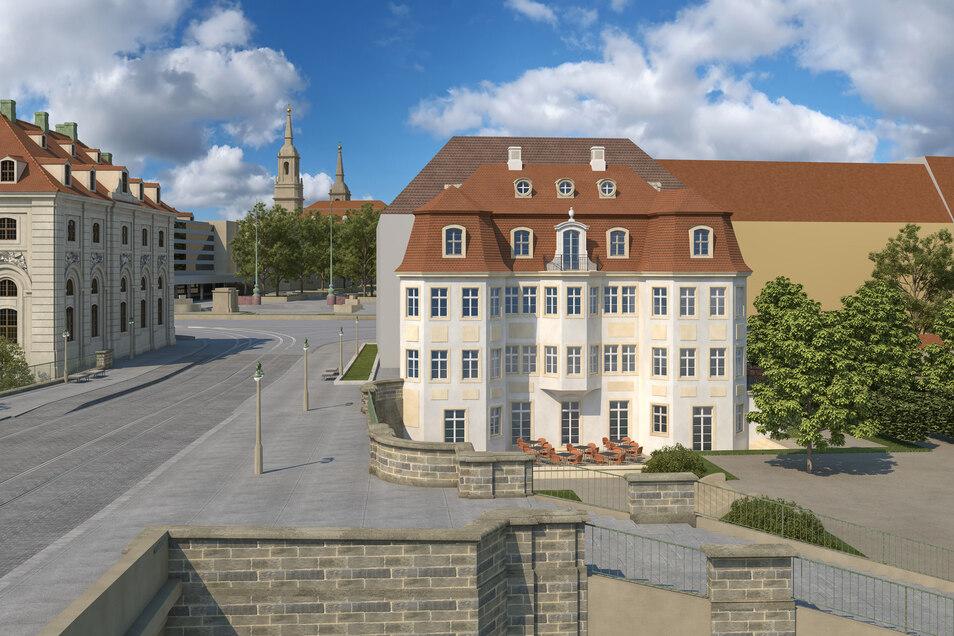 Martin Trux, Architekt aus Dresden, stellt sich das Narrenhäusel so vor.