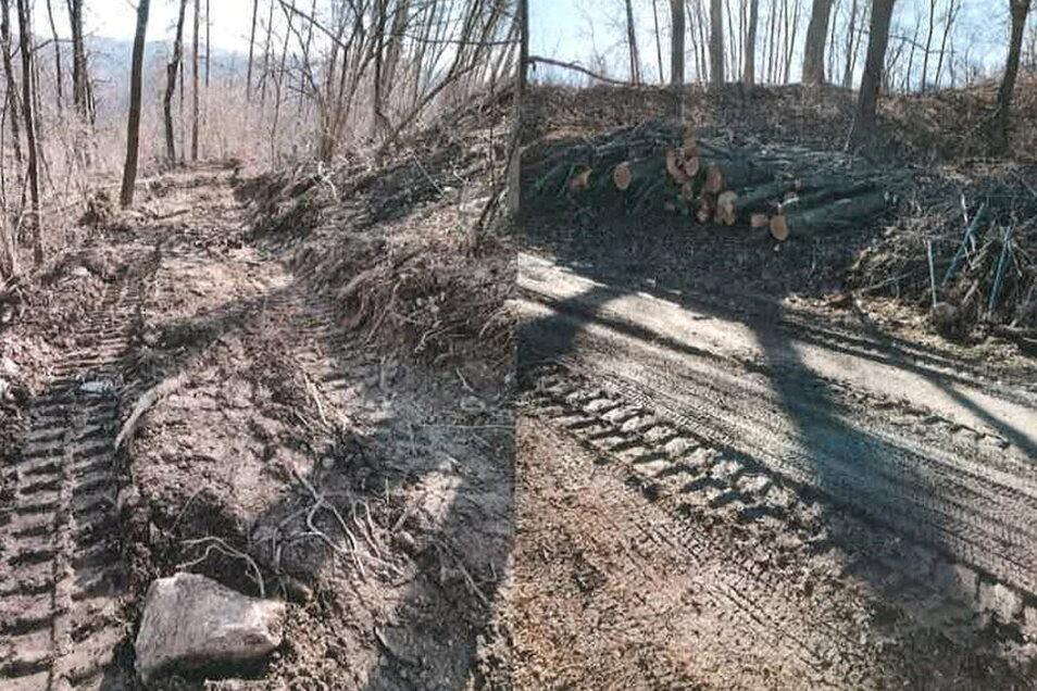 So sah der Zustand des wiederhergestellten Weges vor wenigen Tagen aus.