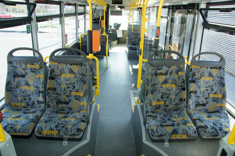 Weil die Caspar-David-Friedrich-Straße ausgebaut wird, kann der Bus dort nicht fahren. Dafür ist ein Antuflinientaxi im Einsatz.