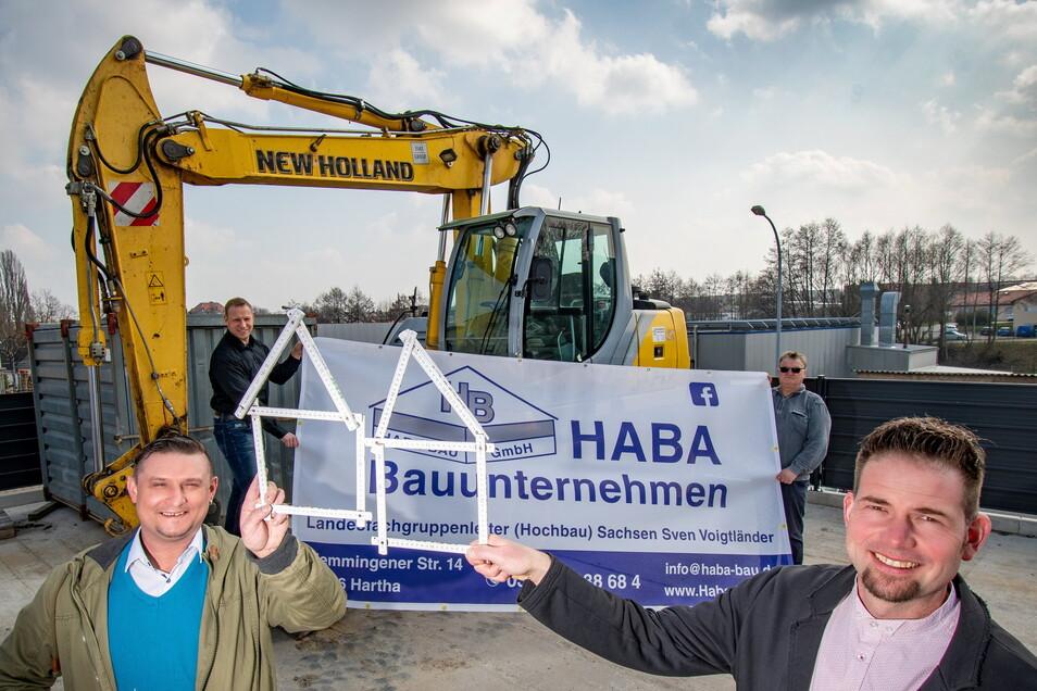 Die Firma Haba Bau aus Hartha übernimmt die Rohbauarbeiten für ein Wohnprojekt in Leipzig.