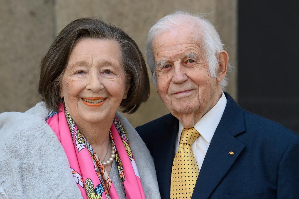Kurt Biedenkopf und seine Ehefrau Ingrid.