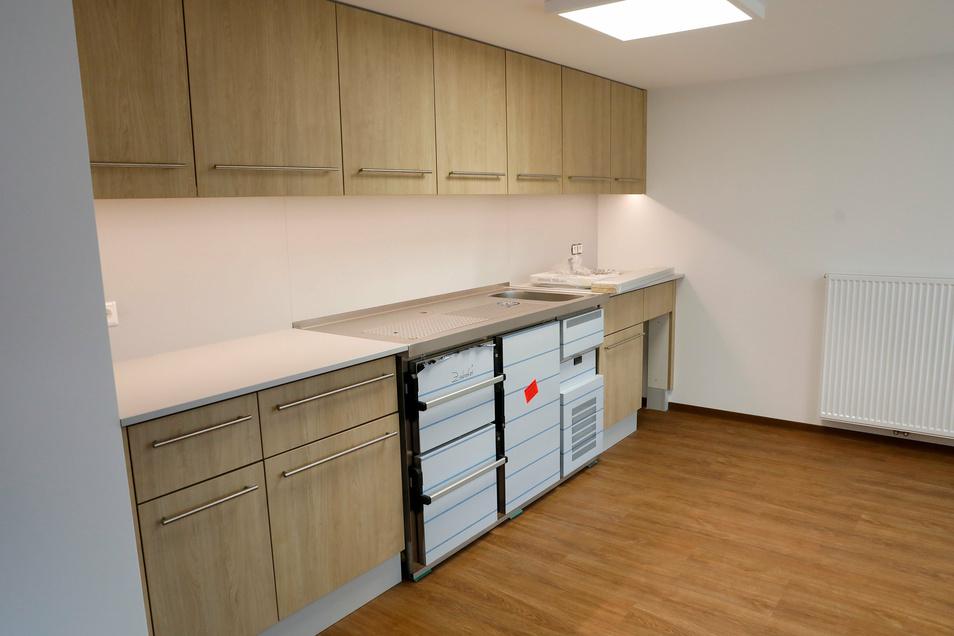 Im Obergeschoss wurde auch eine Küche eingebaut.
