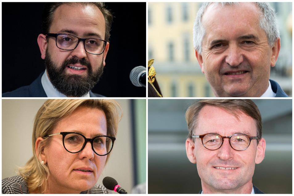 (v.o.l.) Sebastian Gemkow, Thomas Schmidt, Barbara Klepsch und Roland Wöller.