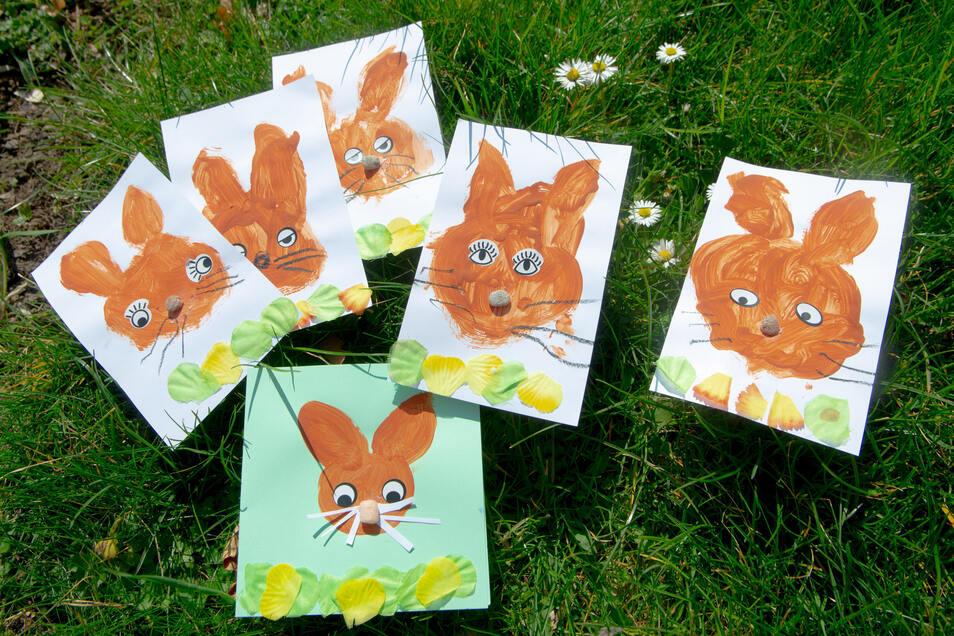 Viele gemalte Osterhasen kamen vergangene Woche im Gorbitzer Seniorenheim an.