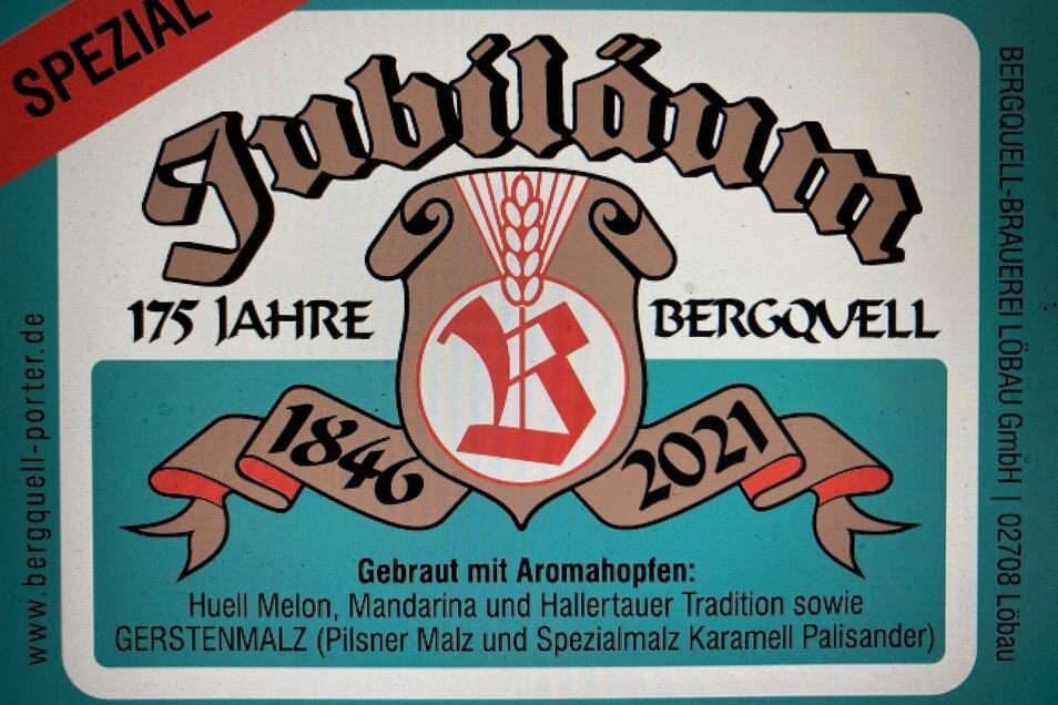"""Das Retro-Etikett der Sorte """"Jubiläum"""" im DDR-Design."""