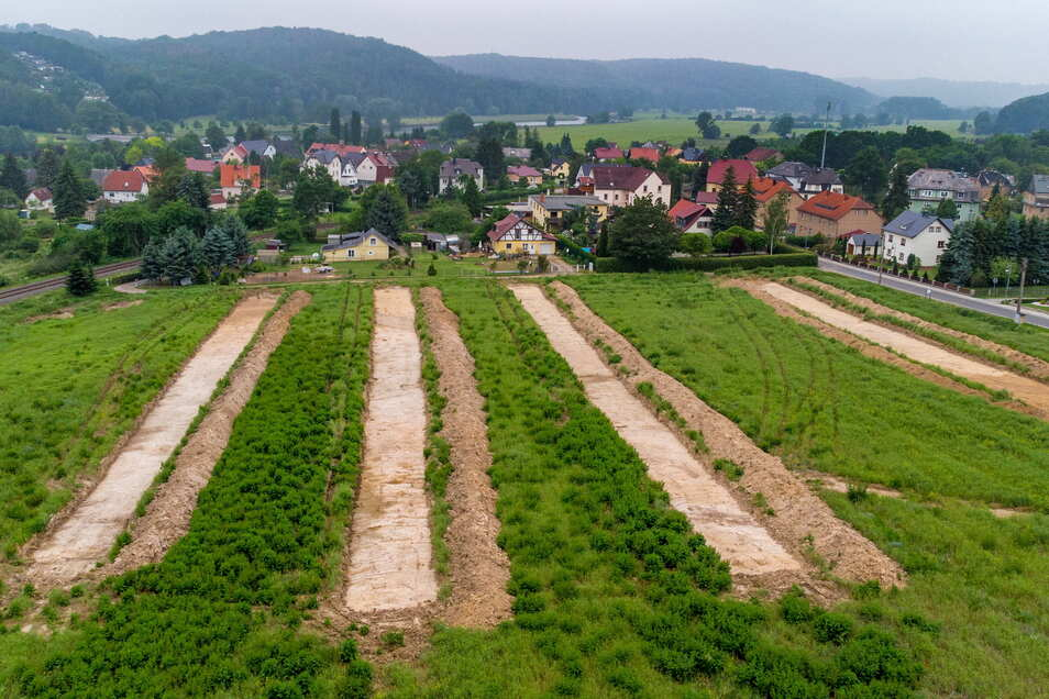 """Das neue Wohngebiet """"Am Kirschberg"""" wird derzeit noch von Archäologen begutachtet. Bald kann es aber mit der Medienverlegung und dem Straßenbau losgehen."""