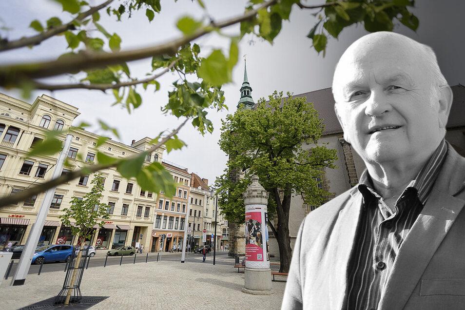 """Albrecht Naumann war Pfarrer an der Görlitzer Frauenkirche. Er sagt hier seine Meinung zu den Plänen, den Kirchplatz in """"Platz der Friedlichen Revolution"""" umzubenennen."""