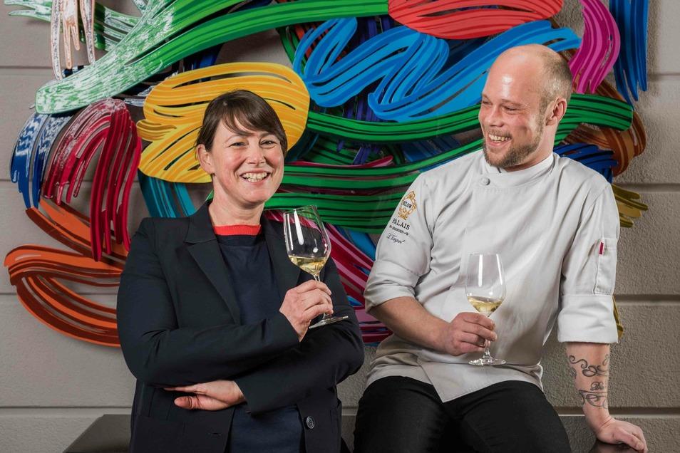 Sven Vogel und Jana Schellenberg aus dem Restaurant Caroussel.